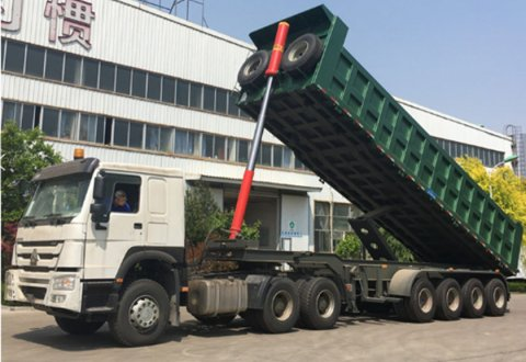 Kailai 3 axles 50 ton rear tipping dump semi trailer sale