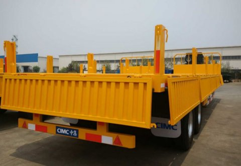 CIMC 2 Axles Container Trailer With Side Board