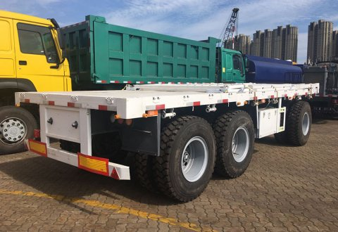 3 Axles Drawbar Full Trailer With Side Board For Sale