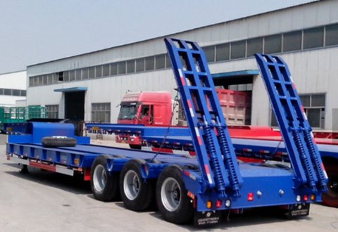 KAILAI 3 Axles 60 tons Lowbed Semi Trailer for sale
