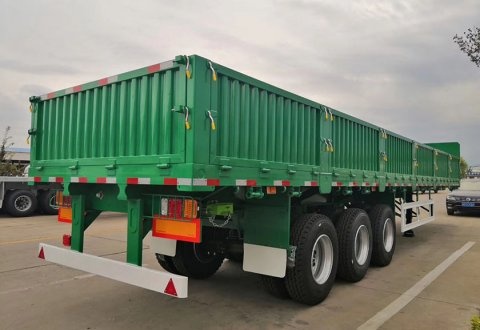 3 Axles Cargo Trailer With Side Board