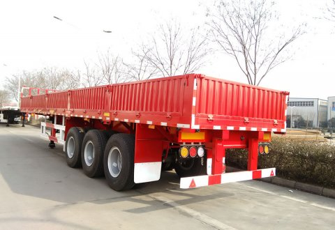 CIMC 3 Axles Container Trailer With Side Board